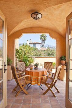 Victoria Garden Mews LEED Platinum Condos Patio - mediterranean - patio - santa barbara - Allen Associates