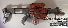 Custom Nerf Vortex Lumitron Warhammer 40K Nerf Gun, Sci Fi Weapons, Warhammer 40k, Guns, Diy, Weapons Guns, Nerf Rifle, Bricolage, Warhammer 40000