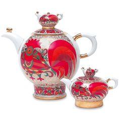 Imperial Porcelain 'Red Rooster' 2-pc. Teapot Set Imperial Porcelain Factory http://www.amazon.com/dp/B00E5IAWB0/ref=cm_sw_r_pi_dp_0yiOtb085Z6CMA18