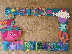 Your place to buy and sell all things handmade 4th Birthday, Birthday Parties, Poppy Photo, Princess Poppy, Photo Booth Frame, Party Hats, Troll, Poppies, All Things