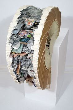 """Brian Dettmer, altered books, """"Saturation Will Result"""". HOLY CHRIST. :O"""