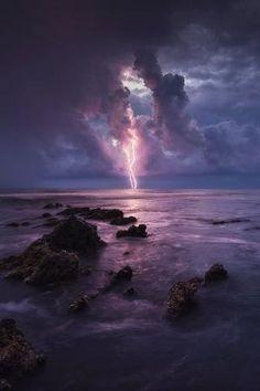 on the Ocean. by blake randall - -Lightning on the Ocean. by blake randall - - Lightning Photography, Storm Photography, Landscape Photography, Nature Photography, Photography Tips, Photography Classes, Portrait Photography, Photography Lighting, Newborn Photography