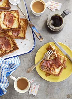 Country Ham French Toastcountryliving Easy Brunch Recipes, Delicious Breakfast Recipes, Egg Recipes, Brunch Ideas, Breakfast Ideas, Breakfast Nachos, Sweet Breakfast, Breakfast Time, Easter Recipes