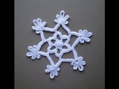 How to Crochet a Snowflake Pattern #5 │by ThePatterfamily - YouTube