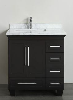 Image Gallery For Website Accanto Contemporary inch Espresso Finish Bathroom Vanity Marble Top