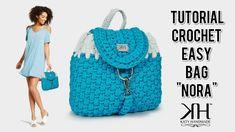 "How to make crochet bag/backpack ""Nora"" - Easy tutorial ♡ Katy Handmade"