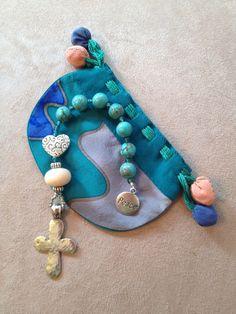 Handmade Anglican-Christian pocket prayer beads.