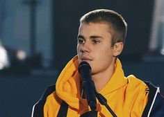 Justin Bieber performing at One Love Manchester benefit concert