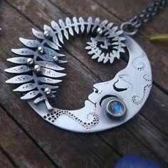 Moonchild Necklace - Moonstone Necklace