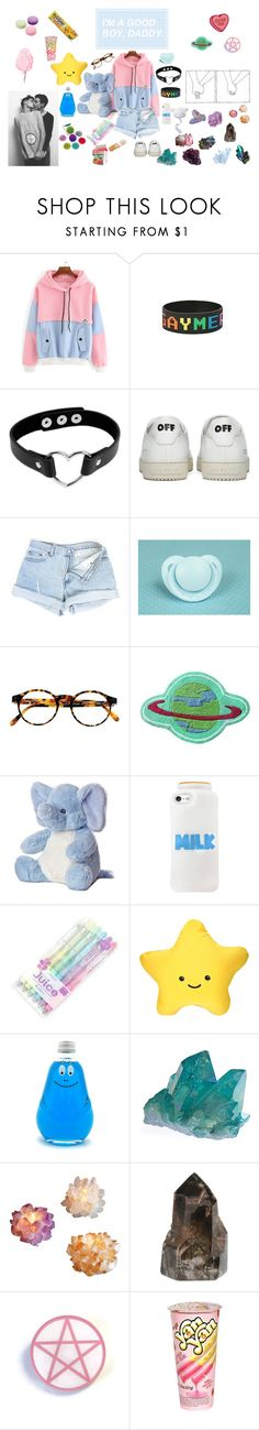 """""""Saw Daddy Today"""" by lilwolfy0 on Polyvore featuring Off-White, Mon Cheri, François Pinton, Dollhouse, DK and Ladurée"""