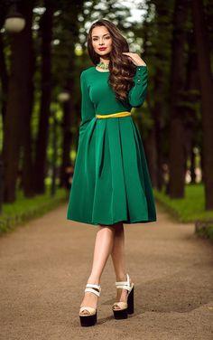 Modest Green Dress