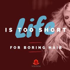 When was the last time you did something fun with your hair? Try something new… TODAY!! :) #voloom #funhairday #hairvolume