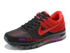 save off 7faec b267e Nike Air Max 2017 Chaussures de Course Coussin Dair Homme Noir rouge  849560-606-