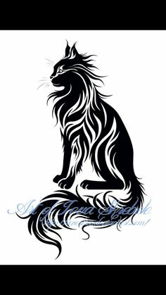 maine coon tattoo