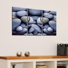Tela stampe - pietra arte stampe - pietra arte tela - Canvas stampa d'arte parete di pietra - spiaggia pietra foto Canvas Print – paesaggi marini