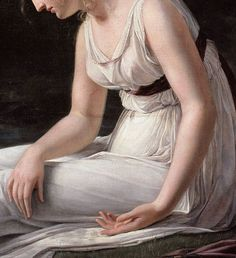 Constance Marie Charpentier Melancholy (detail), 1801