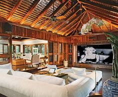 ralph lauren's home at round hill....and how a 'media' room should look ! Home theaters should be abolished!