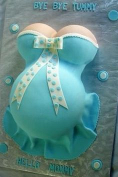 Baby Shower Cake (blue for a boy and pink for a girl)