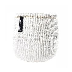 Mifuko Kiondo Basket White Extra Small – Advice from a Caterpillar Nordic Interior Design, Scandinavian Design, Design Shop, Decorative Planters, White P, Toy Store, Sisal, Storage Baskets, Handicraft