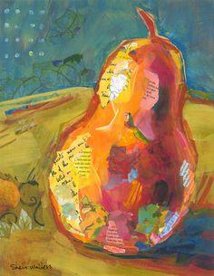 Pear Original Painting