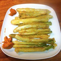 Receta de calçots en tempura gourmet