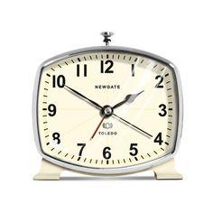 { Newgate Toledo Alarm Clock - Cream | Izola }