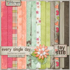 Every Single Day Patterned Papers by Fayette Designs