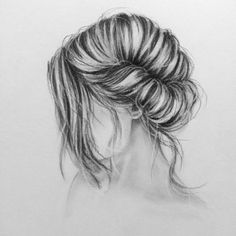 Hair illustration, cartoon sketches, art sketches, amazing drawings, cute d Amazing Drawings, Love Drawings, Easy Drawings, Pencil Art, Pencil Drawings, Charcoal Drawings, Contour Drawings, Cartoon Sketches, Art Sketches
