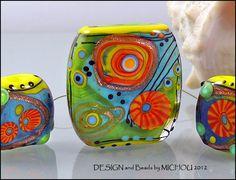 Love & Light  Glass bead Set by Michou Pascale by michoudesign, $103.00
