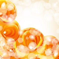 Abstract orange bubble free vector illustration @freebievectors