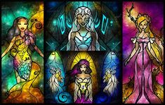 Stained Glass Princesses - Mandie Manzano Beautifully Re-Imagines Disney Characters (GALLERY)