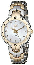 TAG Heuer Women's WAT2351.BB0957 Diamond-Accented 18k Gold and Stainless Steel Automatic Watch