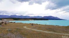 The milky blue colour glacial lake Pukaki