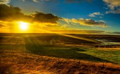 nature sunset clouds scenary field sky (to get full size image visit the site) Field Wallpaper, Sunset Wallpaper, Nature Wallpaper, Hd Wallpaper, Beautiful Farm, Beautiful Things, Hdr Photography, Photography Portfolio, Sunset Landscape