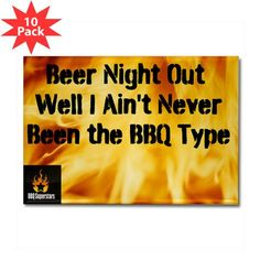 The Custom Rectangle Magnet (10 pack) Beer Night Out!