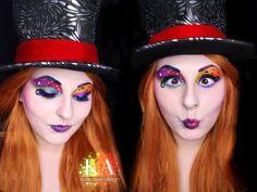 Mad Hatter Makeup w/ Tutorial by KatieAlves.deviantart.com on @DeviantArt