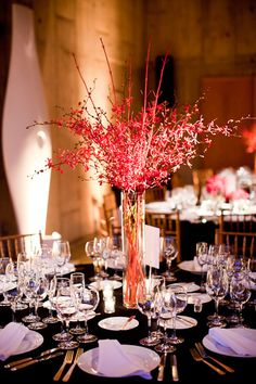 red wedding flowers washington dc 275x412 Washington DC Wedding: Erinn + Kyles Classic Reception