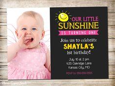 Sunshine Birthday Invitation Sunshine Invitation You Are My Sunshine Birthday