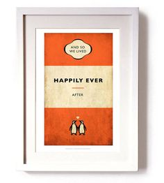 'and so we lived happily ever after' print by reece ward prints | notonthehighstreet.com