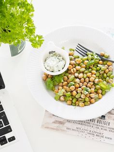 Crunchy chickpea and edamame snack