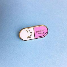 Mr. Happy Pill Lapel Pin