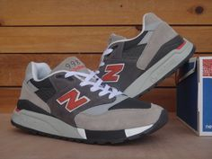 Men New Balance 998 NB998 Shoes 998 Gray Orange|only US$85.00 - follow me to pick up couopons.