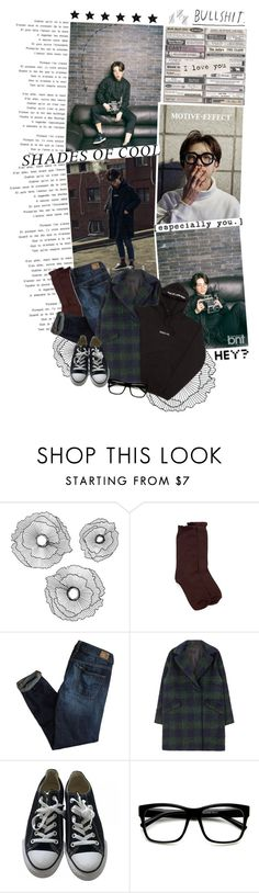 """You are my light, My sunshine, My burning moon. I want to live out my days with you in the summer rain."" by doodlelou ❤ liked on Polyvore featuring Improvements, Hue, American Eagle Outfitters, Converse, Retrò, AME, men's fashion and menswear"