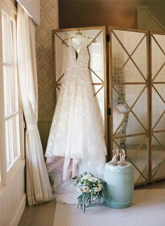 Wedding dress and bridal suite at Pippin Hill Farm and Vineyards in Charlottesville, Va. Virginia Wineries, Charlottesville Va, Bridal Suite, Summer Weddings, Rustic Charm, Wine Country, Farms, Vineyard, Elegant