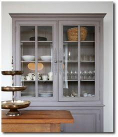 gray painted furniture | Painted Gray Cabinet- dar-amina.blogspot.com