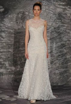 Older Bride Wedding Dresses We Spotted (& LOVED) from Spring 2015 Bridal Fashion Week #olderbride #olderbridedress #weddingdress