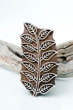 Indian Wood Stamp Leaf 191