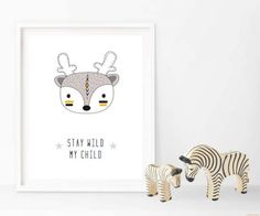 Stay Wild My Child Tribal Prints Changeable Characters