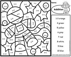 Subtraction Color by Number Space Theme by Primary Piglets Learning Multiplication Facts, Subtraction Activities, Division Activities, Science Activities, Summer Activities, Math Stations, Math Centers, Sight Word Coloring, Addition And Subtraction