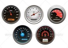 Car Speedometers Set
